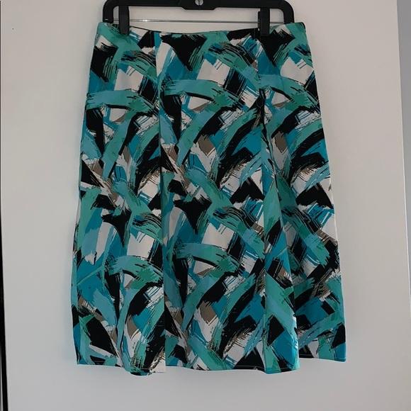 Christopher & Banks Dresses & Skirts - Paint pattern midi skirt